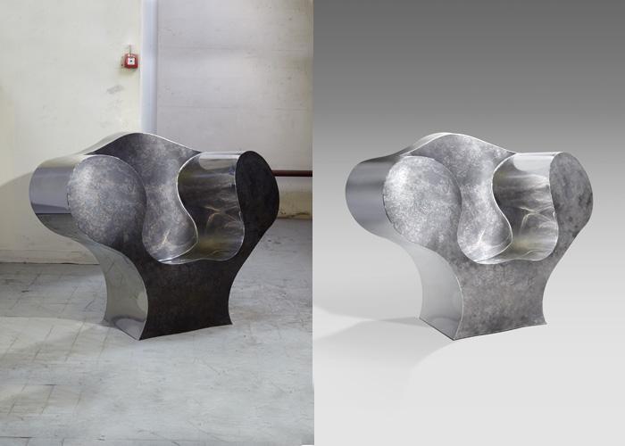 Retouche fauteuil contemporain